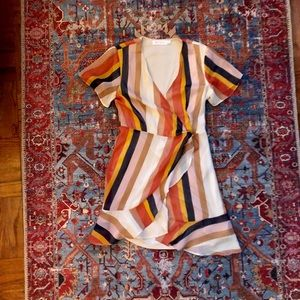 Nordstrom short sleeve wrap mini dress